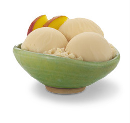 Orchard peach fat free sorbet at Haagen-Dazs