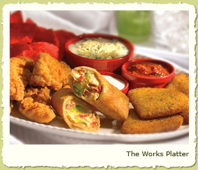 NEW THE WORKS PLATTER at Coco's Restaurant & Bakery