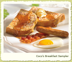 COCO'S BREAKFAST SAMPLER at Coco's Restaurant & Bakery