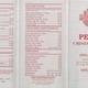 Restaurant Menu at Peony Chinese Cuisine