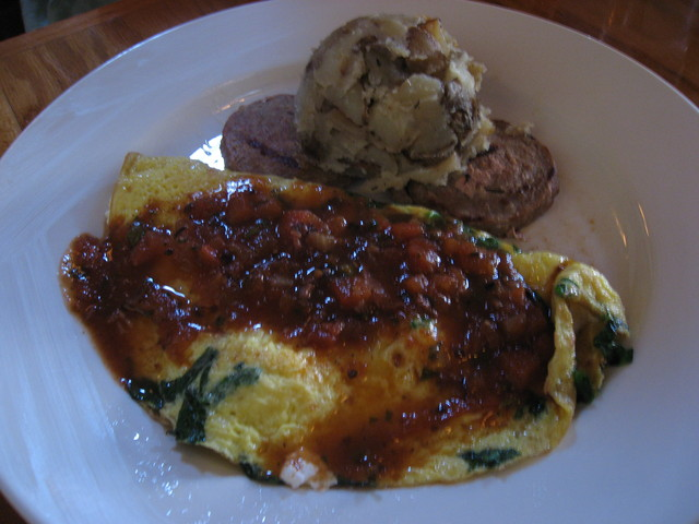 Spinach and Feta Omelet at Jane's