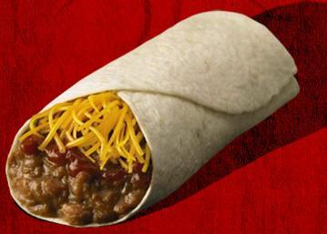Photo of 1/2 lb. Bean & Cheese Burrito