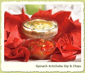 SPINACH ARTICHOKE DIP & CHIPS at Coco's Restaurant & Bakery