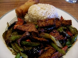 Tofu in Szechuan sauce with whole peppers and tofu cooked the right way - Szechuan Hot Spicy at Szechuan Chinese Restaurant