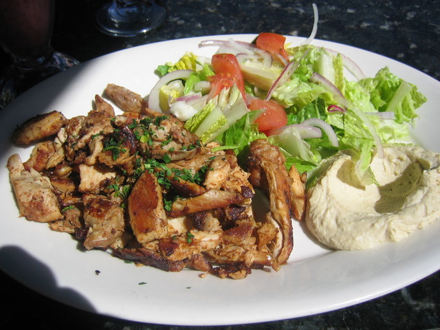 Chicken Shawerma at Blu Wave Mediterranean Kitchen