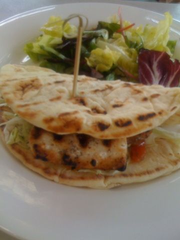 Photo of Grilled Mahi Mahi Flatbread Sandwich