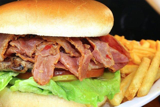 BIG 1/3lb. Colossus Pastrami Burger at columbia restaurant