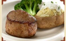 Steakhouse Filet Mignon at Charlie Brown's Steakhouse