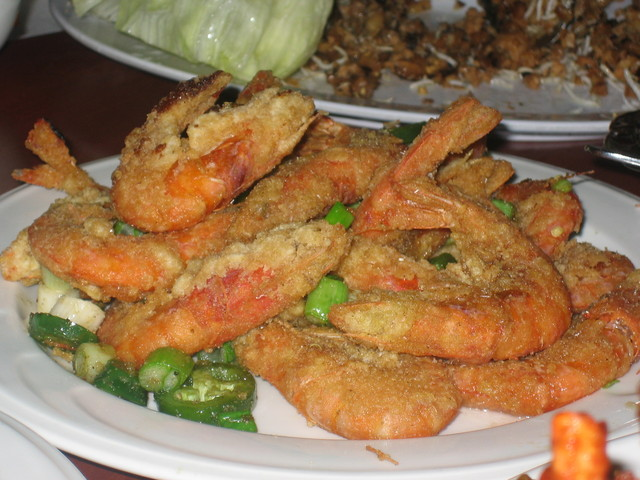 Salt & Pepper Shrimp at Russell's Seafood Palace (CLOSED)