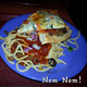 Spaghetti with Meat Sauce and Garlic Bread at Mr Gatti's Pizza