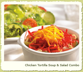 CHICKEN TORTILLA SOUP & SALAD COMBO at Coco's Restaurant & Bakery