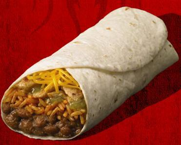 Spicy Chicken Burrito, at Del Taco