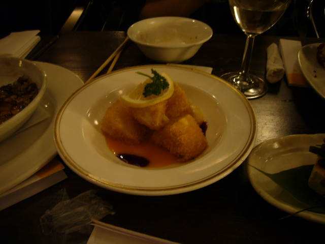 Deep fried Brie with mango sauce at Kitanoya Guu