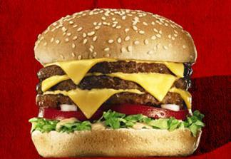 Triple Del™ Cheeseburger at Del Taco