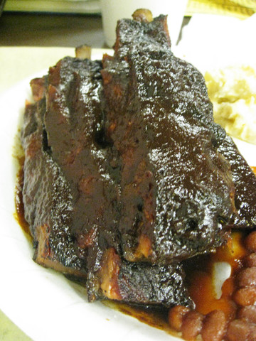 Spicy Beef Ribs at Hungry Al's Bar B Que