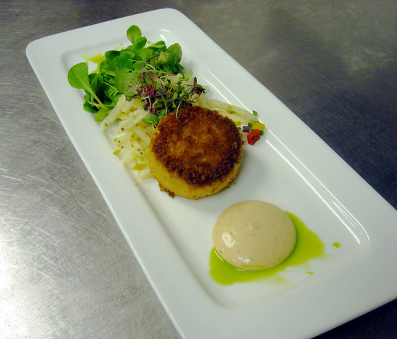 Crispy Sauteed Crab Cake at Thyme Restaurant & Cafe Bar