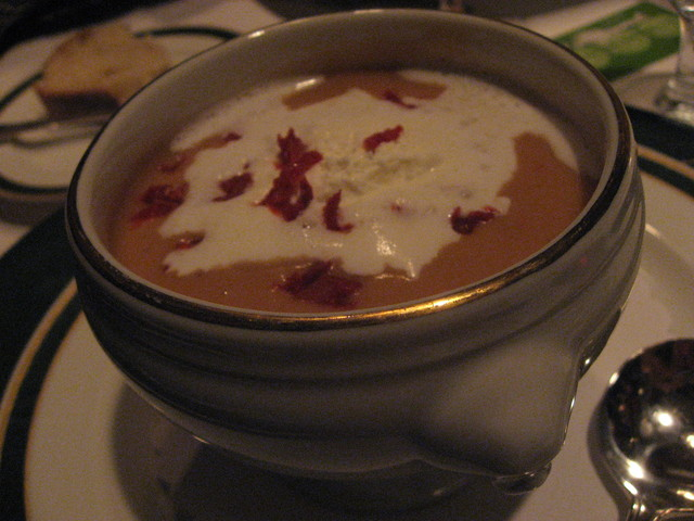 Lobster Bisque at Five Crowns