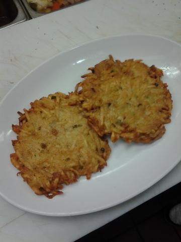 Potato Latkes / Pancakes at Monroe Diner Inc