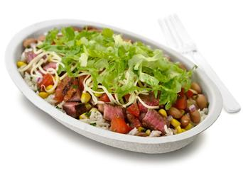 Burrito Bowl at Chipotle Mexican Grill