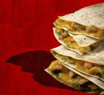 Chicken Cheddar Quesadilla at Del Taco