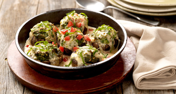 Baked Stuffed Mushrooms at Carino's Italian Grill