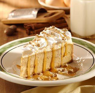 Pumpkin Cheesecake at Isaac's Restaurant & Deli