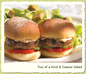 TWO OF A KING & CAESAR SALAD at Coco's Restaurant & Bakery