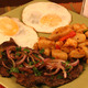 Latin Steak and Egg at Lincoln Grill Cafe in Fair Lawn