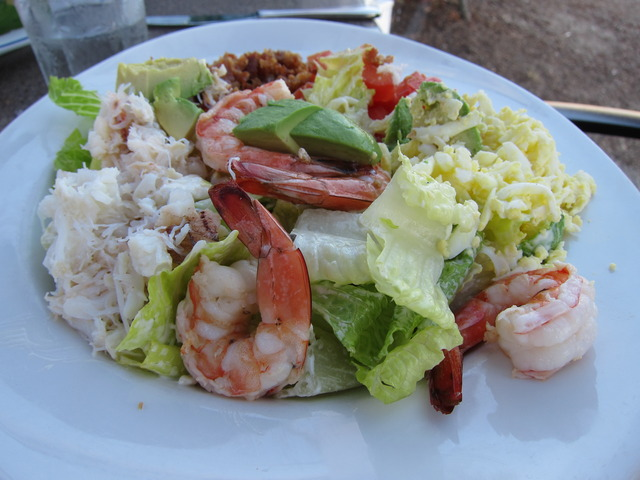 Seafood Cobb Salad at Parkers' Lighthouse