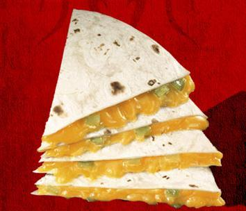 Cheddar Quesadilla at Del Taco