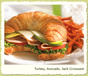 TURKEY, AVOCADO, JACK CROISSANT at Coco's Restaurant & Bakery