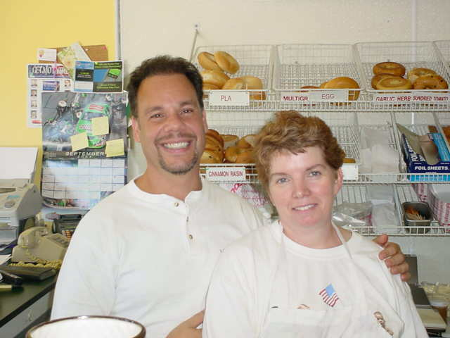 George and Anne, co-owners of Hoboken Bread and Bagel Company - Photo at Hoboken Bread & Bagel Co