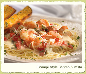 SCAMPI-STYLE SHRIMP & PASTA at Coco's Restaurant & Bakery