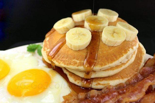 Banana Pancakes Breakfast at columbia restaurant