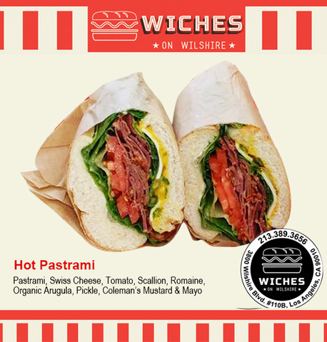 Hot Pastrami Sandwich at Wiches on Wilshire