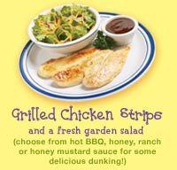 Grilled Chicken Strips at Bob Evans
