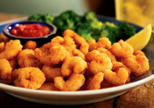 Crunchy Popcorn Shrimp at Red Lobster