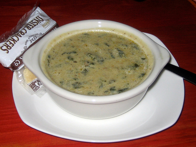 Spinach Oyster Bisque at Lista's Grill