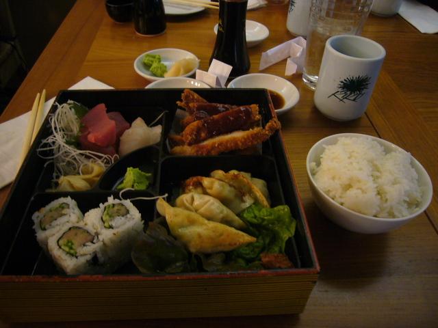 Dinner Bento Box at Kiku Sushi
