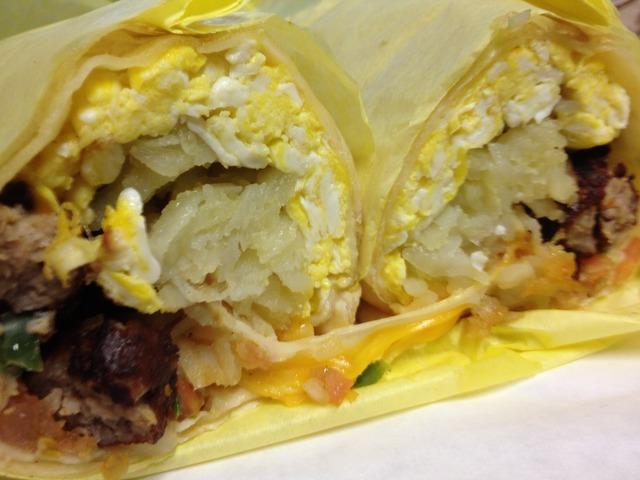 Breakfast Burrito - Breakfast Burrito at G & K Burgers