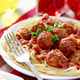 Fresh pasta tossed in signature sherry marinara sauce and served with incredible house-made meatball - House Made Meatballs & fresh Spaghetti at More Perreca's