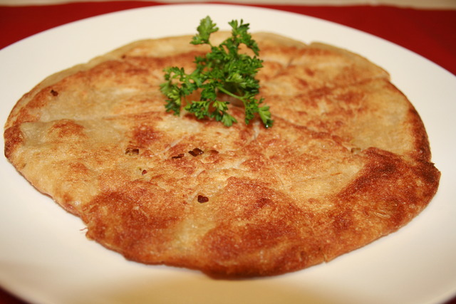 My fav - Crispy Scallion Pancake - Crispy Scallion Pancake at Blue Orchid