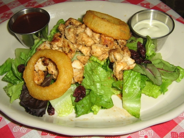 Signature Salad with Chicken available Large $8.95 Small $4.99 (shown in photo) - Signature Salad at Cheesesteak Factory AKA Todd's New York BBQ & Roadhouse (CLOSED)