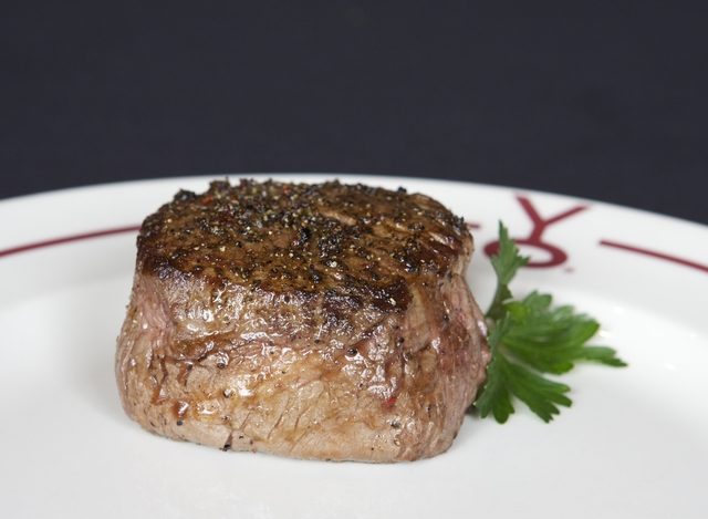 Y.O. Ranch Steakhouse's signature steak - BUFFALO FILET MIGNON at Y.O. Ranch Steakhouse