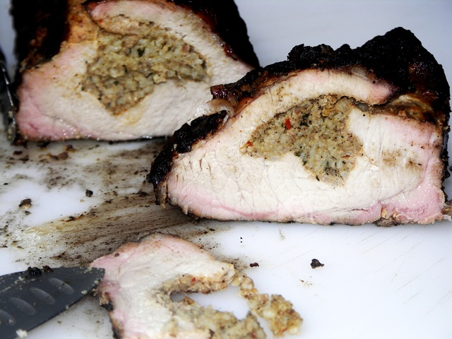Boudain Stuffed Pork Loin at CorkScrew BBQ