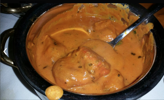 chicken masala at Kurry Pavilion
