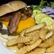 Burger at Rick's Cafe & Pizzeria