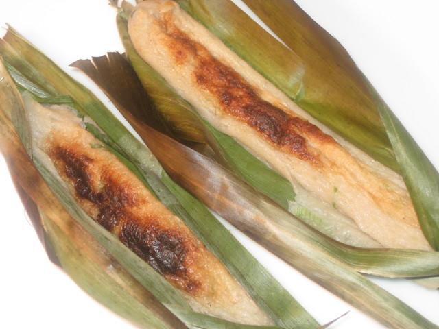 Photo of Otak Otak (fish cake grilled in banana leaves)