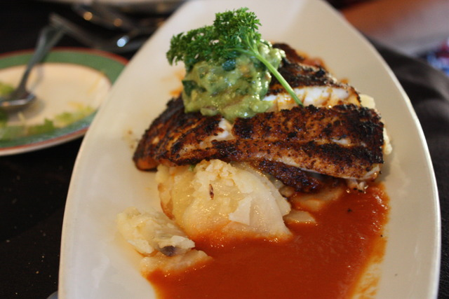 Blackened Sea Bass  at Harborside Restaurant & Grand
