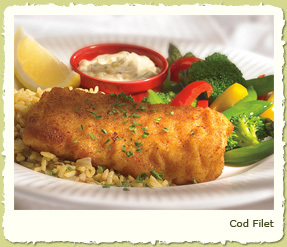 COD FILET at Coco's Restaurant & Bakery